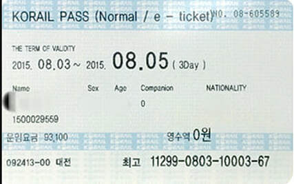 KORAIL Pass Photo